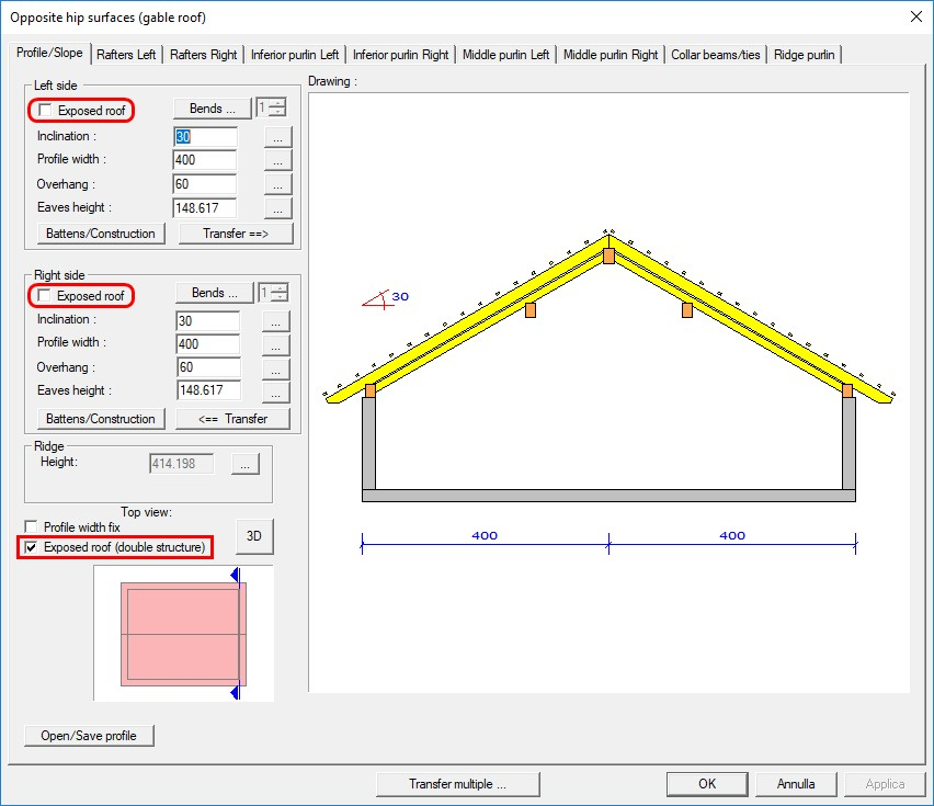 WETO AG - VisKon A (roof module) - 3D software for Timber