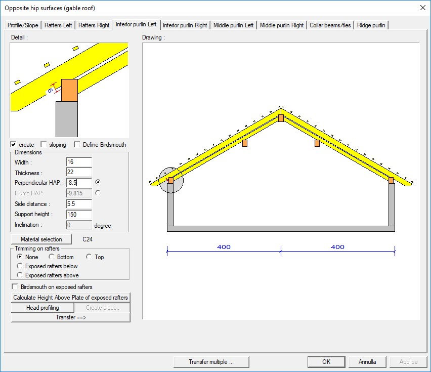 Weto ag viskon a roofs module 3d software for timber for Hip roof design software