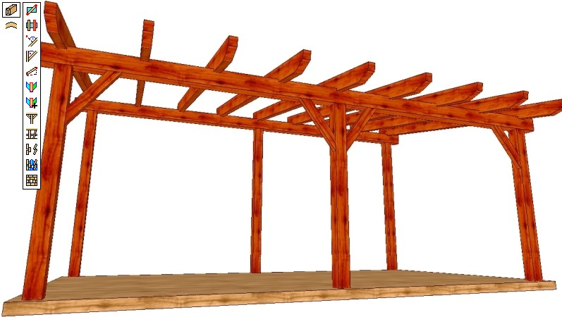 Weto Ag Viskon A Roof Module 3d Software For Timber Roofs Pergolas