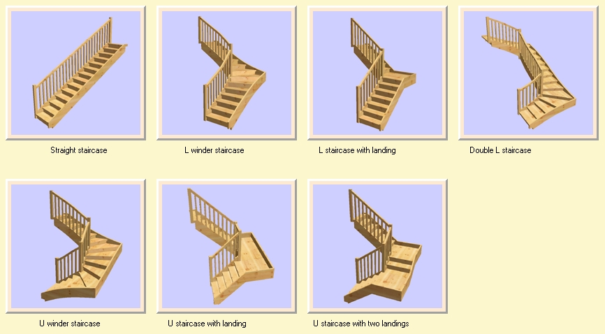 Run Staircases Istant Wizard And With One Click Select The Desired Staircase Type Straight L Or U Winder